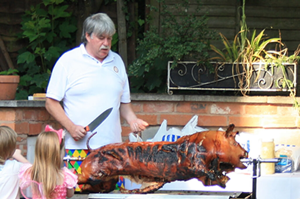 Garden Events, pig roasts,, BBQ's and parties at Victoria House, Leamington Spa